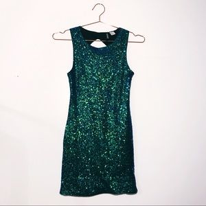 Divided Mermaid Sequin Mini Club Bodycon Dress